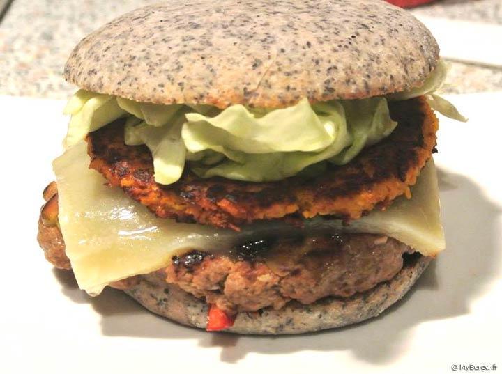 photos de burger empanada burger maison recette par fantomchris. Black Bedroom Furniture Sets. Home Design Ideas
