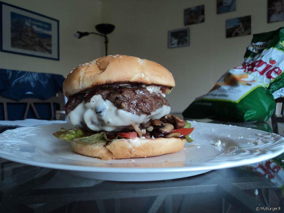 Recette du forestier burger maison recette avis test - Recette hamburger maison ...