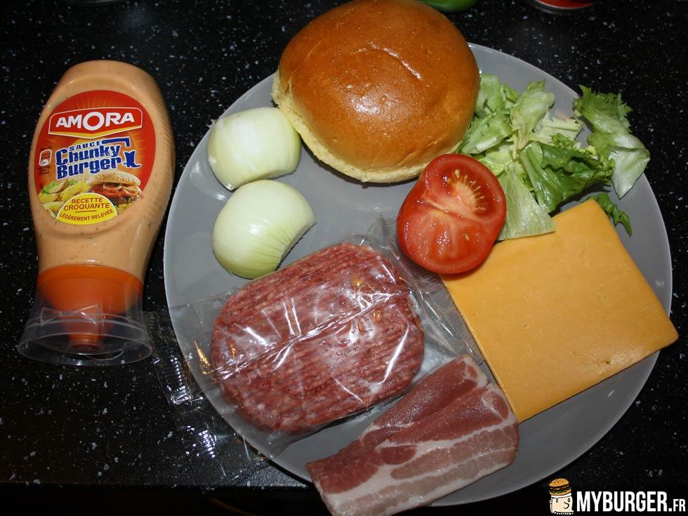 Photos de bacon club house burger maison recette par for Burger de