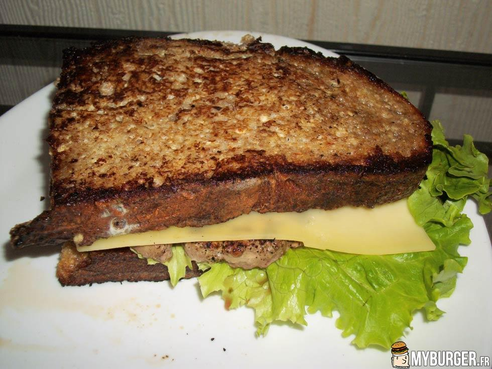 recette du entre pain perdu burger maison recette avis test. Black Bedroom Furniture Sets. Home Design Ideas