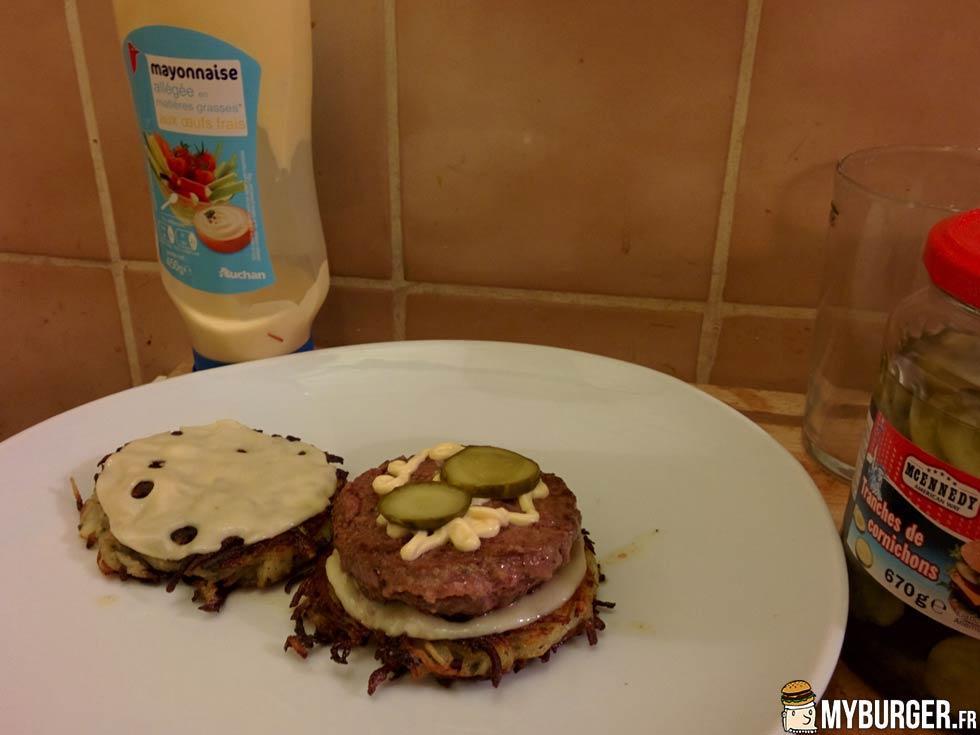 Photos de rsti burger burger maison recette par - Recette hamburger maison ...