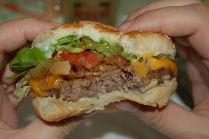 Photos de burger knoblauch sauce l 39 ail burger maison recette par miclinux - Recette hamburger maison original ...