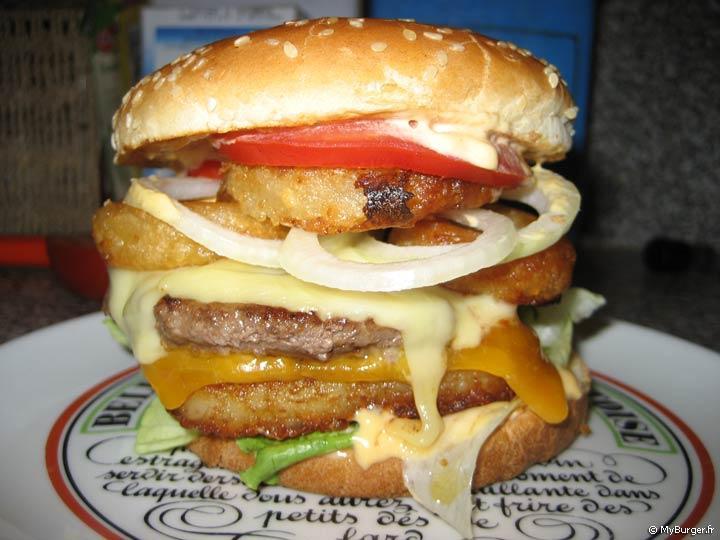 Recette du roc rsti oignon cheese burger burger maison - Recette hamburger maison original ...