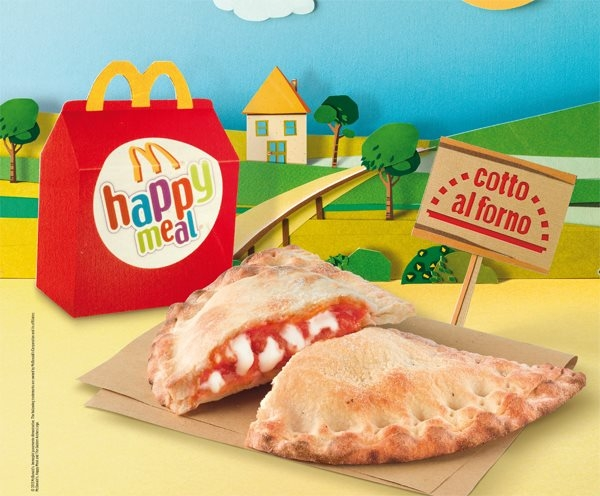 Apr  233 s les P  226 tes BARILLA   Ronald l Italien d  233 gaine la Pizzarotto    Mcdonalds Pizza Happy Meal
