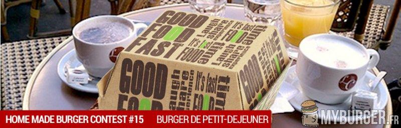 Concours du moment : HOMEMADE BURGER 15 - Burger de petit-d�jeuner