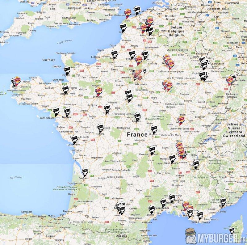 Burger King Carte Geographique.Burger King Developpement En France Les Enseignes