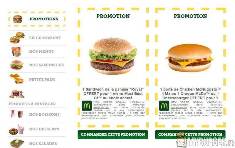 offre burger king